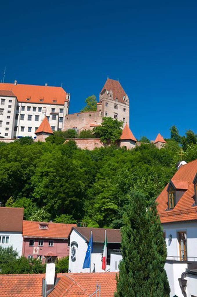 Germany, Bavaria (Bayern), Landshut, Burg Trausnitz (Trausnitz Castle) : Stock Photo
