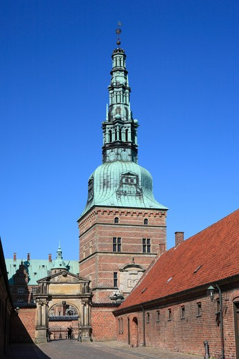 Stock Photo: 1609R-29085 Frederiksborg palace (1602-1620), Hillerod, near Copenhagen, Denmark