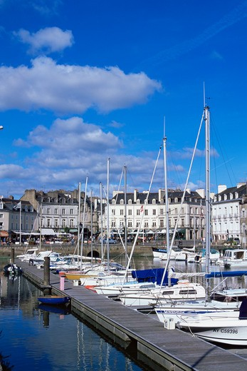 Stock Photo: 1609R-29354 Vannes Harbour, Morbihan, Brittany, France