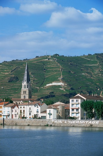 Stock Photo: 1609R-29369 Tain L' Hermitage, Cote du Rhone, Drome, Rhone-Alpes, France
