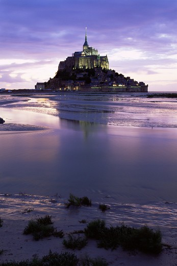 Stock Photo: 1609R-29382 Mont St. Michel, Manche, Normandy, France