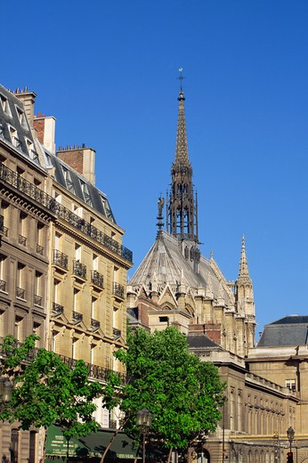 Stock Photo: 1609R-29409 Ste, Chapelle Chapel, Ile de la Cite, Paris, France