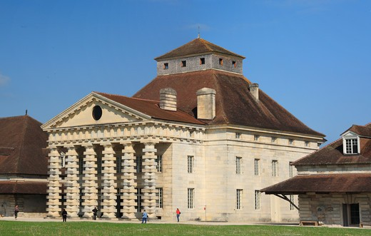 Saline Royale (Royal Saltworks), UNESCO World Heritage site, Arc-et-Senans, Franche-Comté, France : Stock Photo