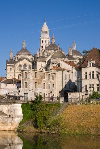 Stock Photo: 1609R-29490 St. Front Cathedral, Periguex, Dordogne, France
