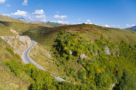 Stock Photo: 1609R-29541 Georgia, Georgian Military Highway, Jvari Pass