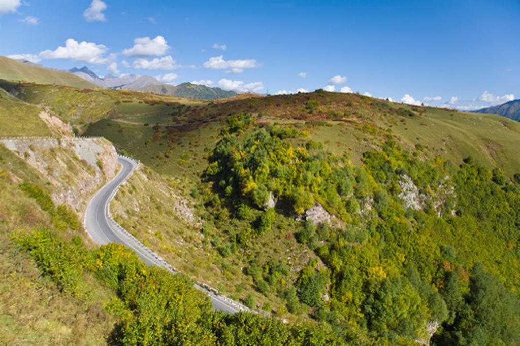 Georgia, Georgian Military Highway, Jvari Pass : Stock Photo