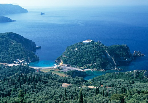Stock Photo: 1609R-29621 Paleokastritsa, Corfu, Greece