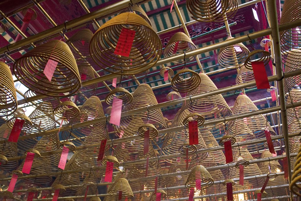Stock Photo: 1609R-29745 Man Mo Temple, Hollywood Road, Hong Kong, China