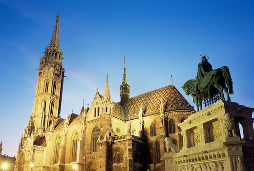 Stock Photo: 1609R-29861 Matyas Church, Budapest, Hungary