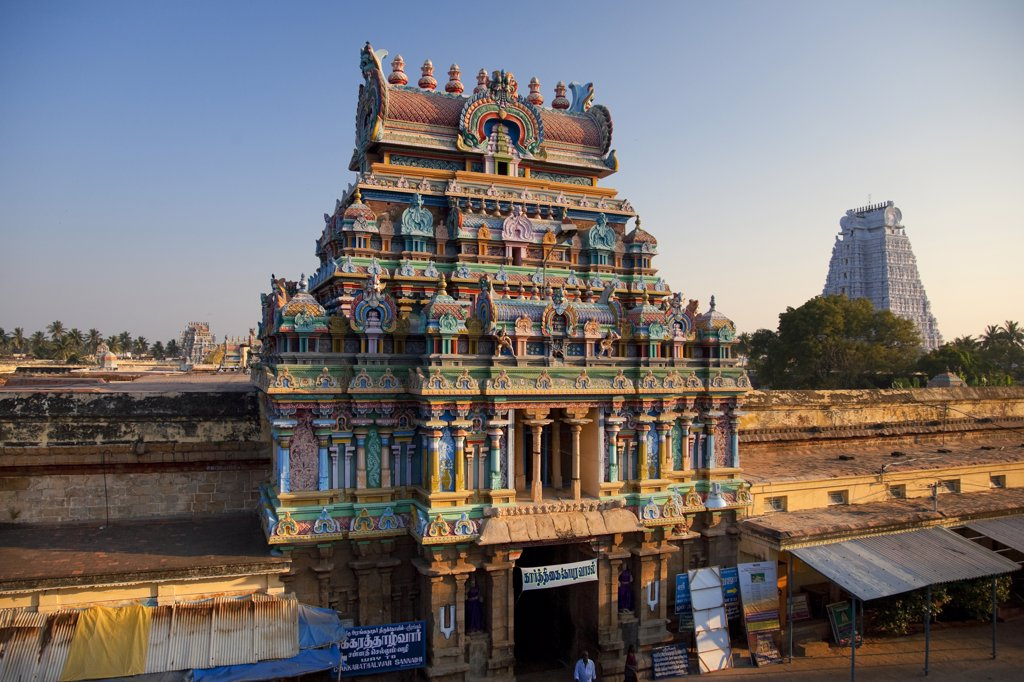 Stock Photo: 1609R-30116 Sri Ranganathasvami Temple, Srirangan, Tiruchirapally (Trichy), Tamil Nadu, India