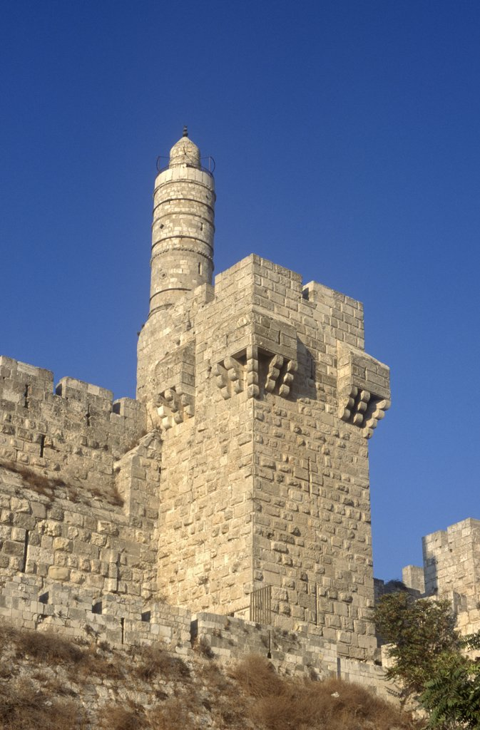 Stock Photo: 1609R-30190 Citadel, Old City of Jerusalem, Israel