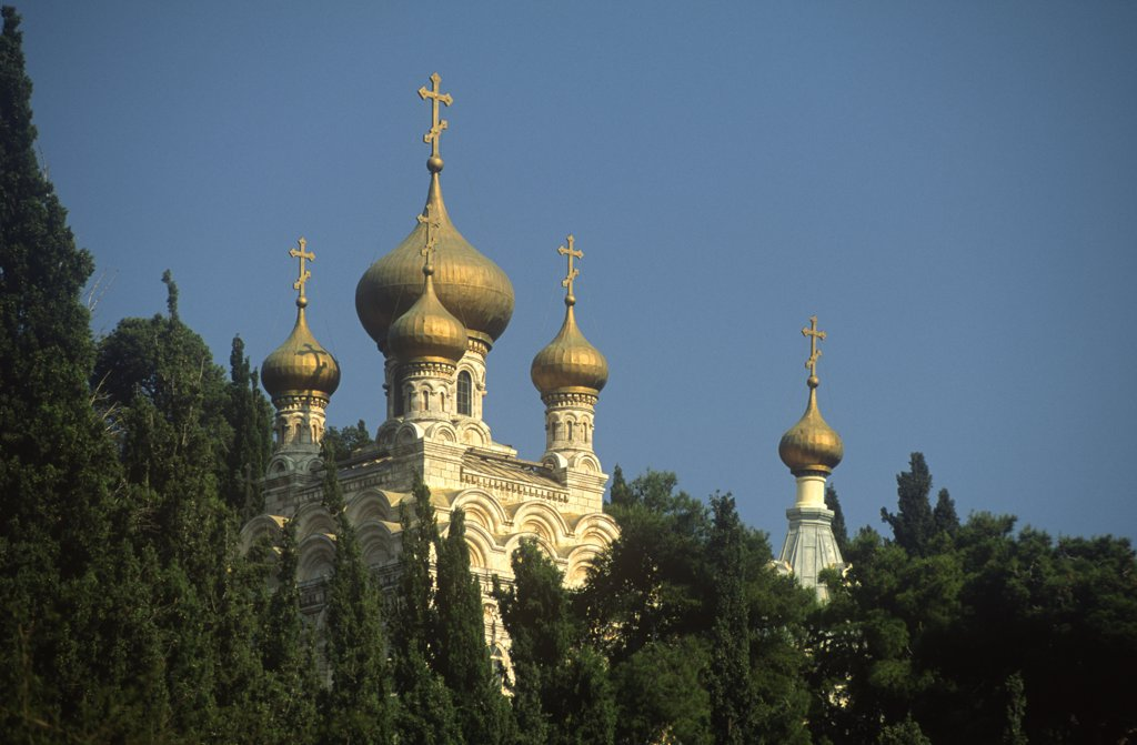 Church of Mary Magdelene, Jerusalem, Israel : Stock Photo