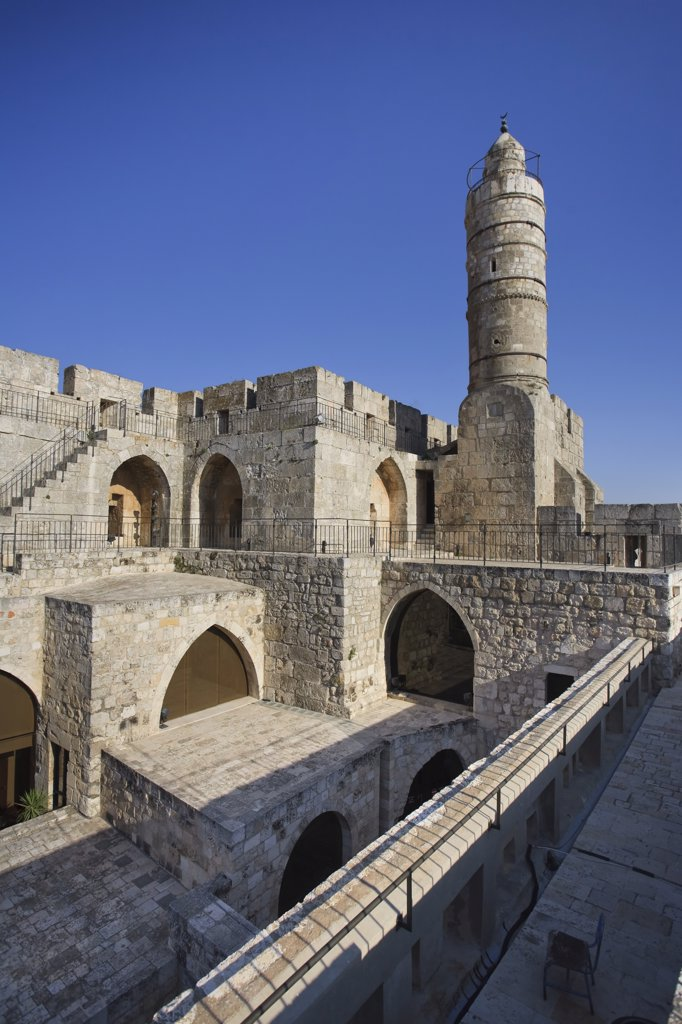 Stock Photo: 1609R-30198 Old town Citadel and tower of David, Jerusalem, Israel