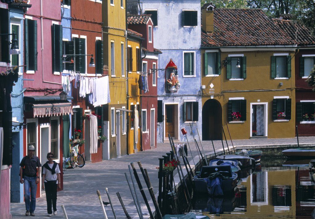 Stock Photo: 1609R-30262 Canal, Burano, Italy