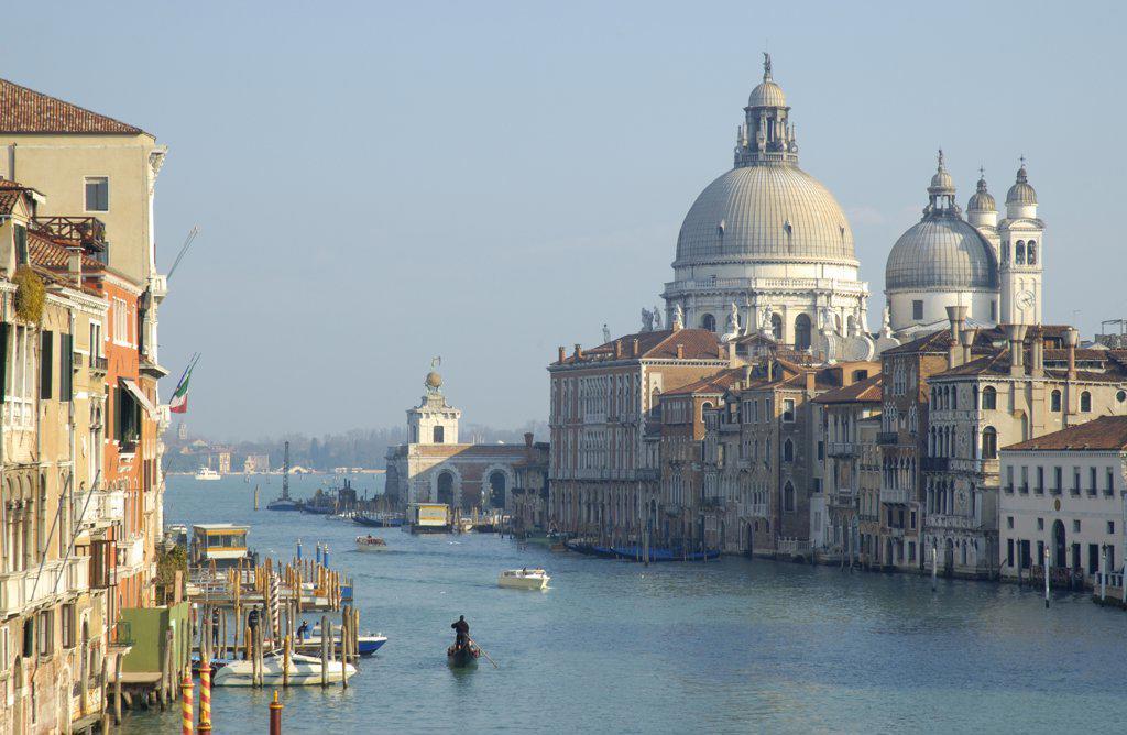 Grand Canal & Basilica di Santa Maria della Salute, Venice, Italy : Stock Photo