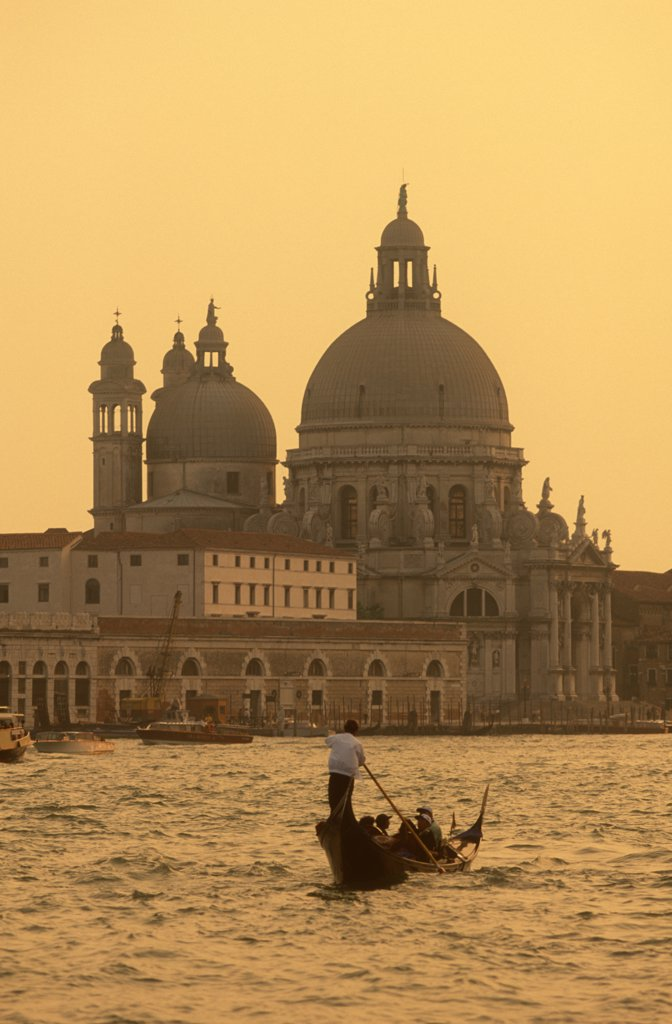 Stock Photo: 1609R-30307 Santa Maria Della Salute & Grand Canal, Venice, Italy