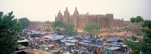 Stock Photo: 1609R-30655 Djenne Mosque, Djenne, Niger Inland Delta, Mopti region, Mali
