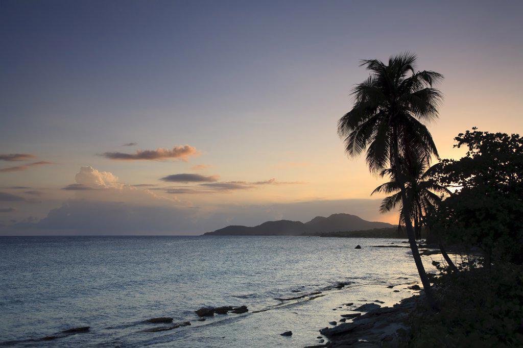 Stock Photo: 1609R-30998 Puerto Rico, Vieques Island, Esperanza Bay