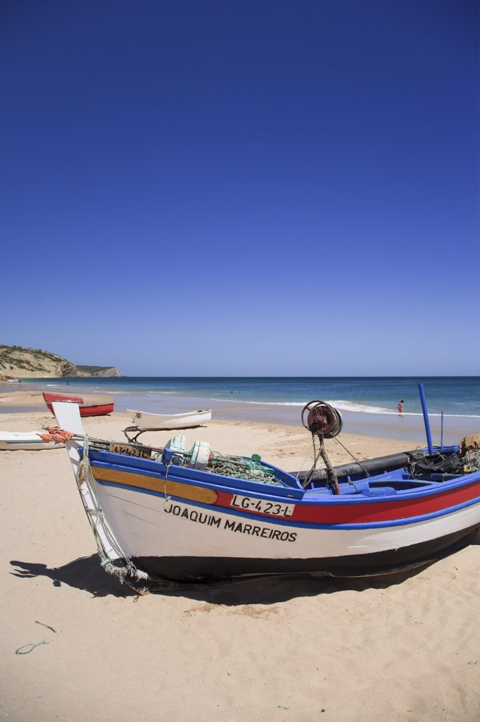 Beach, Salema, Algarve, Portugal : Stock Photo