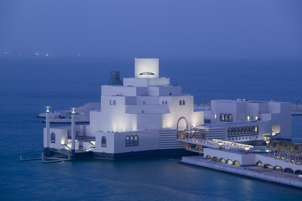 Stock Photo: 1609R-31081 Qatar, Doha, Museum of Islamic Art (Architect, IM Pei)