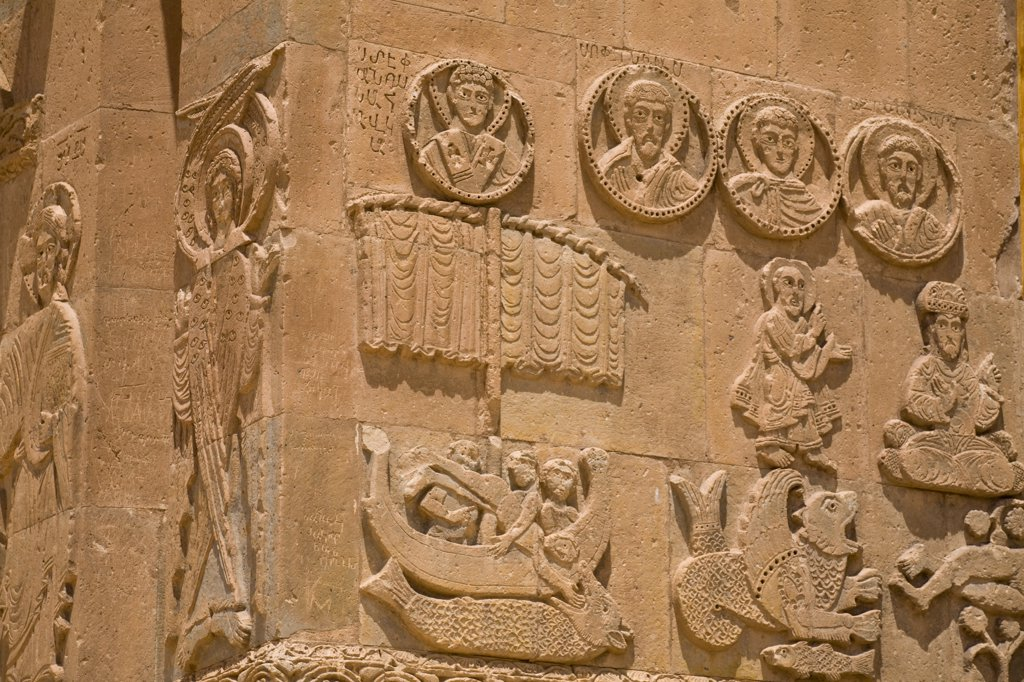 Stock Photo: 1609R-31402 Turkey, Eastern Turkey, Van, Lake Van, Akdamar Island, Akdamar Killsesi, Armenian Church of the Holy Cross, Reliefs of Biblical scenes