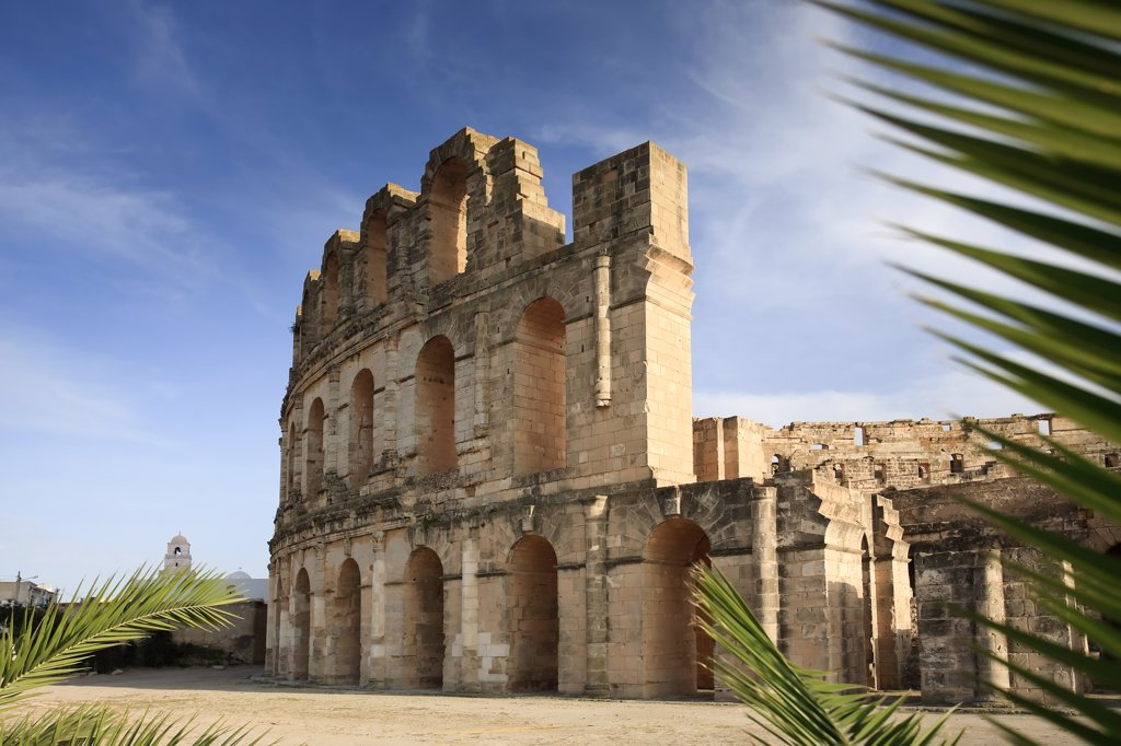 Stock Photo: 1609R-31643 Africa, Tunisia, Amphitheatre of El Jem (UNESCO World Heritage Site)