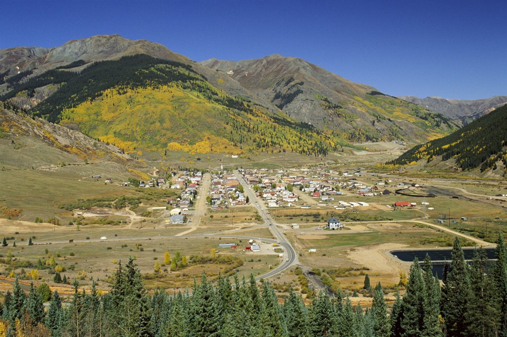 Stock Photo: 1609R-32124 Silverton, Colorado, USA