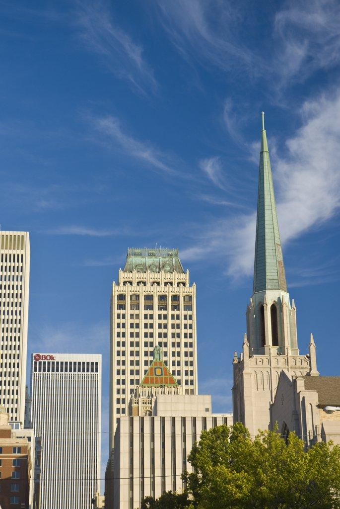 Stock Photo: 1609R-32291 USA, Oklahoma, Tulsa, Downtown