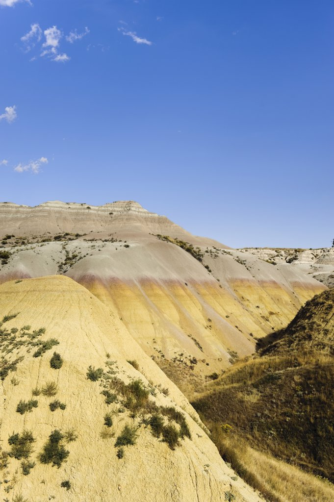 Stock Photo: 1609R-32383 Badlands National Park, South Dakota, USA