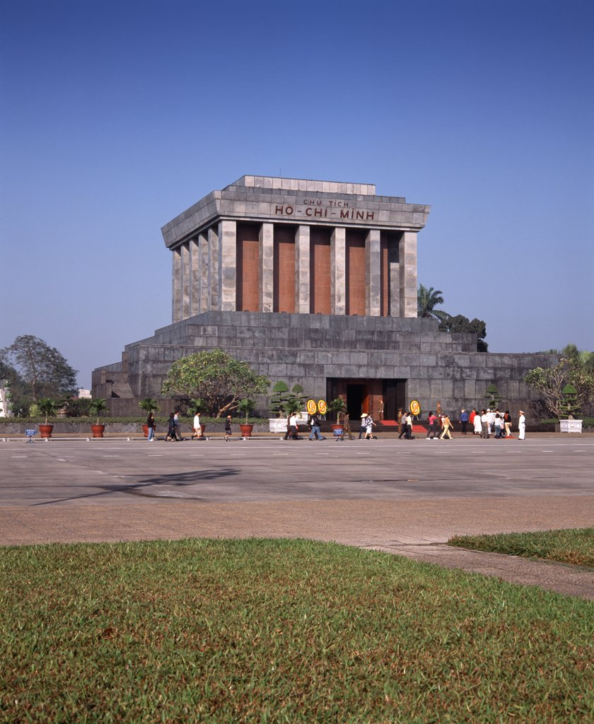 Ho Chi-Minh's mausoleum, Hanoi, Vietnam : Stock Photo