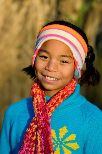 Stock Photo: 1610-175 Portrait of a girl smiling