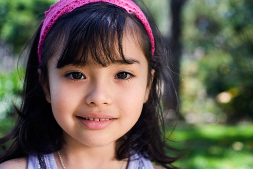 Stock Photo: 1610-278J Portrait of a girl smiling