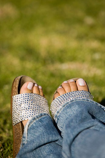Close-up of a person's feet : Stock Photo