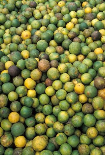 Stock Photo: 1626R-10561 Produce at market in Isla Mujeres, Mexico
