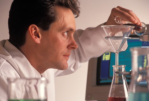 Scientist Working in Lab : Stock Photo
