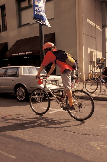 Biking in the City : Stock Photo