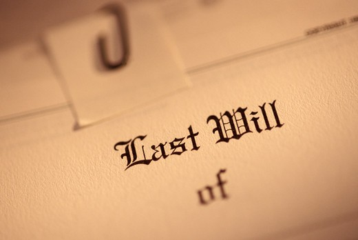 Stock Photo: 1626R-12636 Last Will and Testament