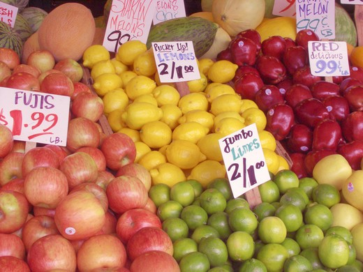 Fruit at Pike Street Market : Stock Photo