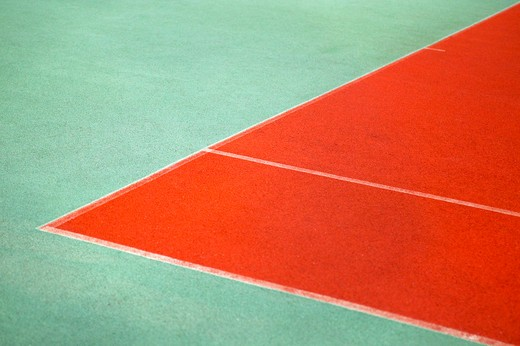 Stock Photo: 1626R-13917 Edge of Sports Court