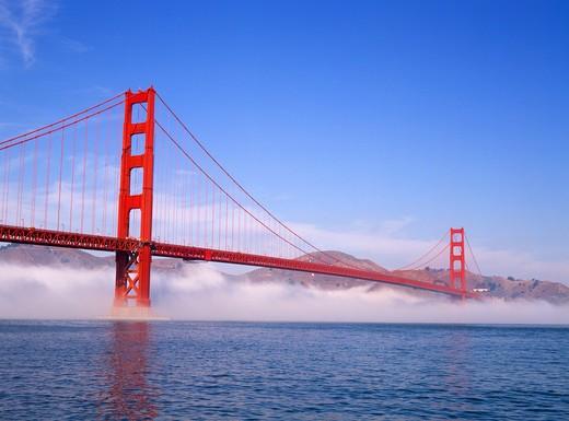 Golden Gate Bridge in Fog : Stock Photo