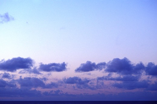 Purple Clouds In A Pink And Blue Sky : Stock Photo