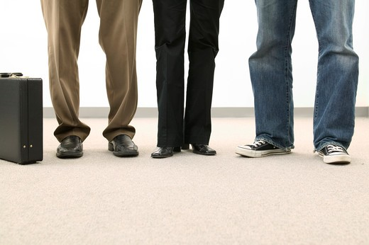 Stock Photo: 1626R-16002 Row of Legs Wearing Different Pants