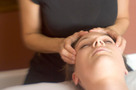 Massaging the Face : Stock Photo