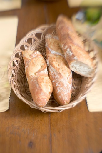 Basket of Bread : Stock Photo