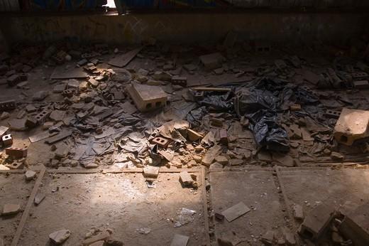 Stock Photo: 1626R-18490 Rubble on Floor
