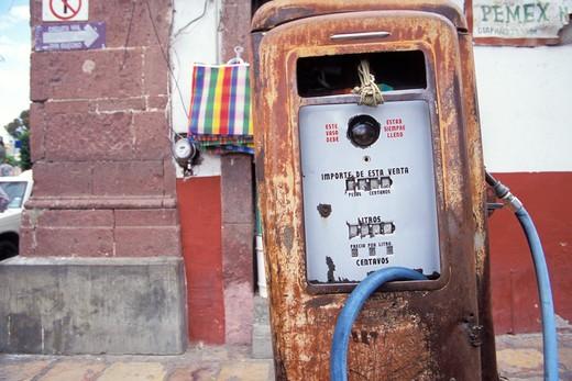 Gas Pump in San Miguel de Allende Mexico : Stock Photo