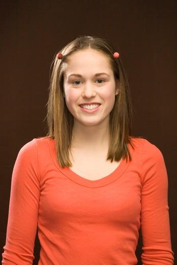 Teen Girl Smiling : Stock Photo