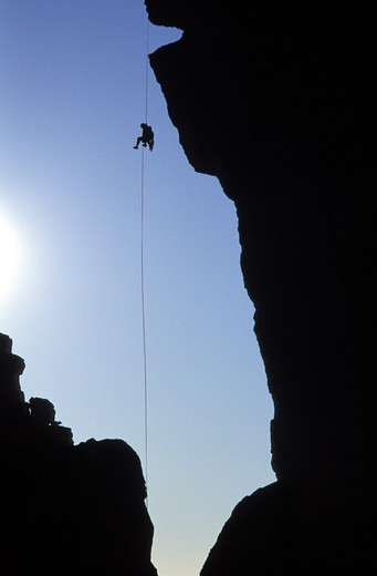 Stock Photo: 1626R-19994 Rock Climber at Smith Rock in Oregon