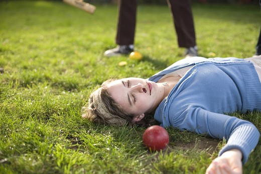 Croquet Mallet Murder : Stock Photo