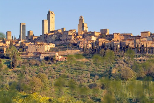 Stock Photo: 1626R-20159 San Gimignano in Tuscany